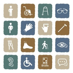 Symbols representing different types of disabilities