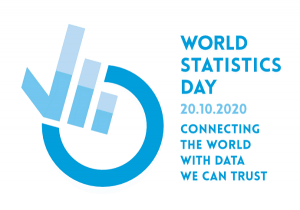 United Nations logo for World Statistics Day 2020