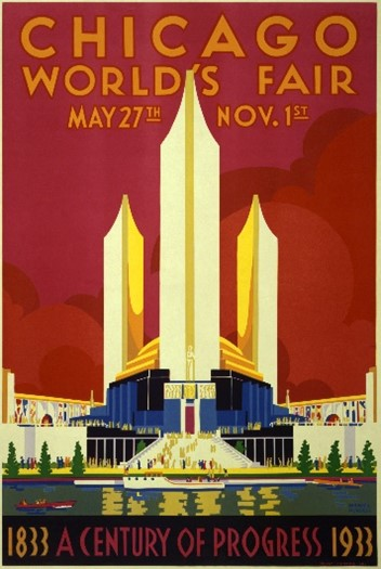 Poster for Century of Progress International Exposition in Chicago in 1933